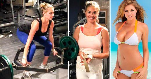 Kate Upton realiza una intensa rutina de ejercicios