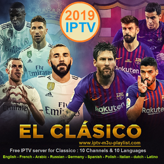 Classico IPTV server for 02.03.2019 : 10 Channels & 10 Languages