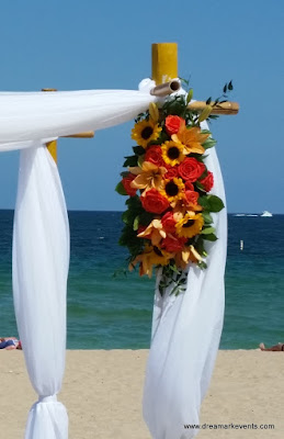 Fort Lauderdale beach wedding decoration