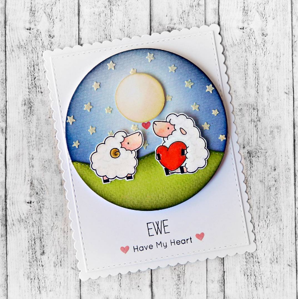 Birdie Brown Ewe Are the Best stamp set and Die-namics - Raluca Vezeteu #mftstamps