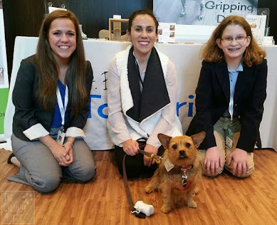 Jada with Dr. Buzby and her crew at Barkworld