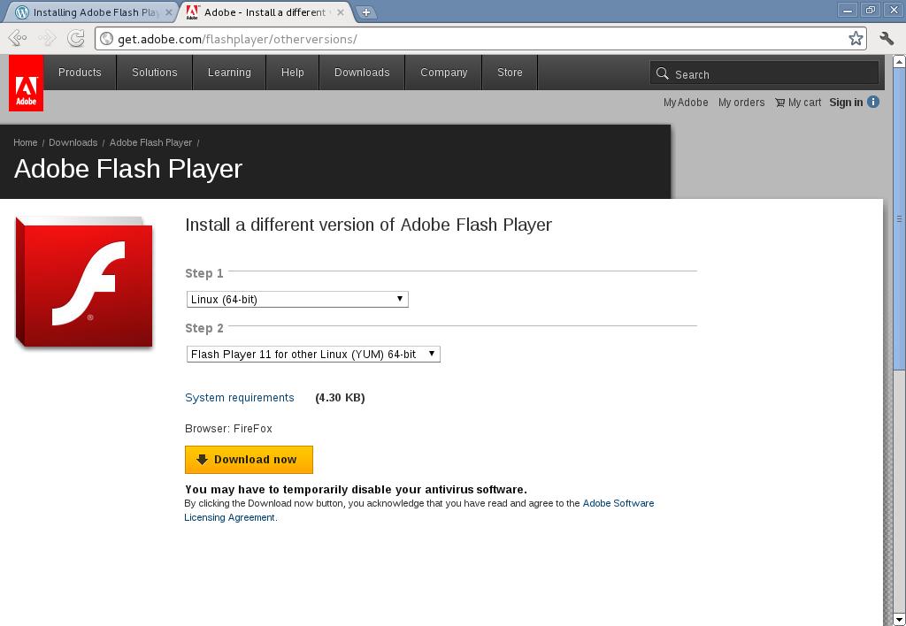 download flash player 64 bit