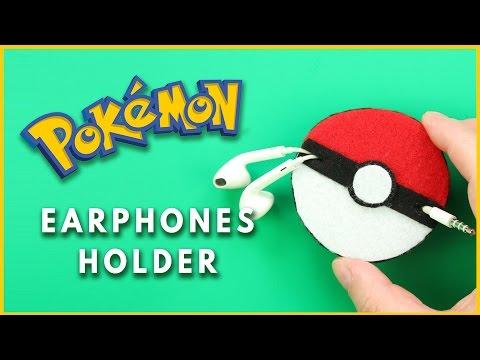 diy porta fone de ouvido pokemon go