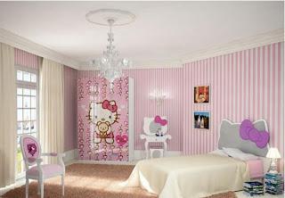 MODEL KAMAR TIDUR ANAK PEREMPUAN Desain Kamar Tidur Anak Minimalis Hello Kitty