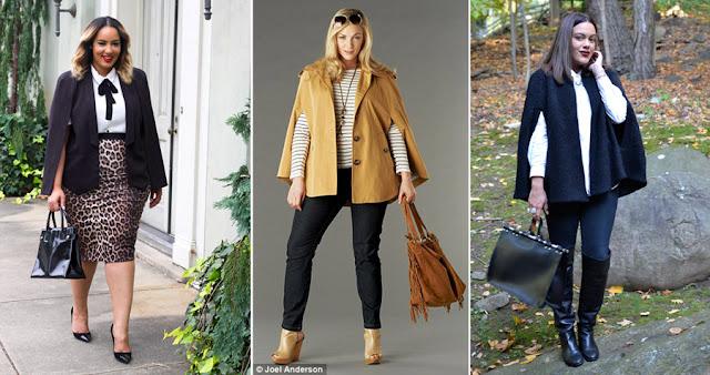 Кейп с брюками и юбкой карандаш для полных женщин