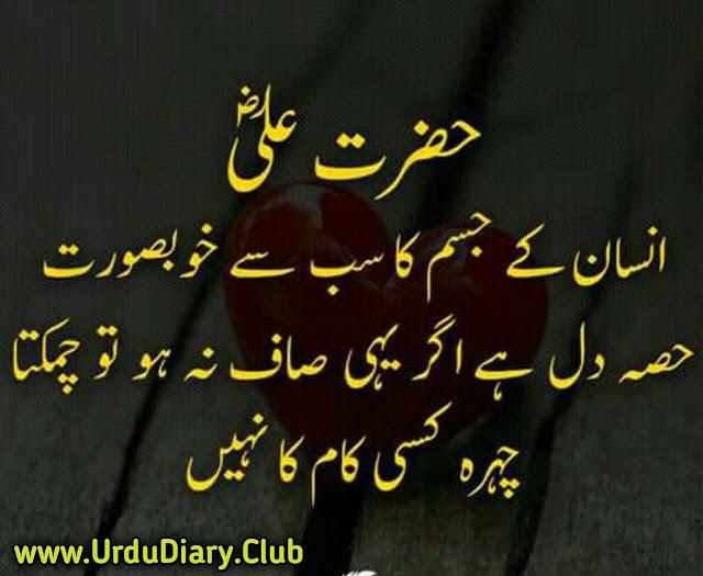 Best Hazrat Ali Quotes Images In Urdu- Insan k jisam ka