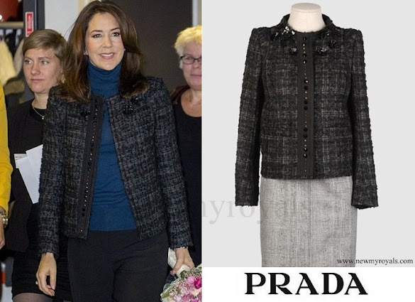 Crown Princess Mary wore PRADA wool jacket