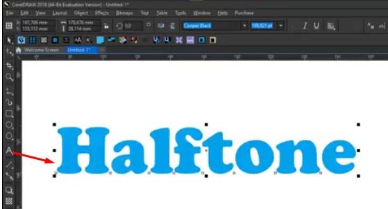 Membuat Text Untuk Efek halftone di CorelDraw