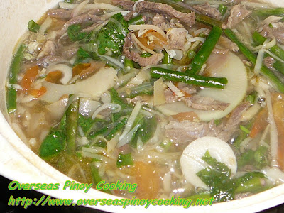 Dinengdeng with Beef Soured with Tamarind - Cooking Procedure