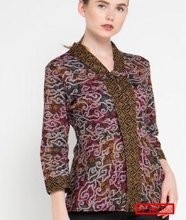 baju batik atasan wanita 2018