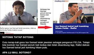 Isa Samad Bukan Pengerusi Felda - Apa Lagi Rafizi Mahu?