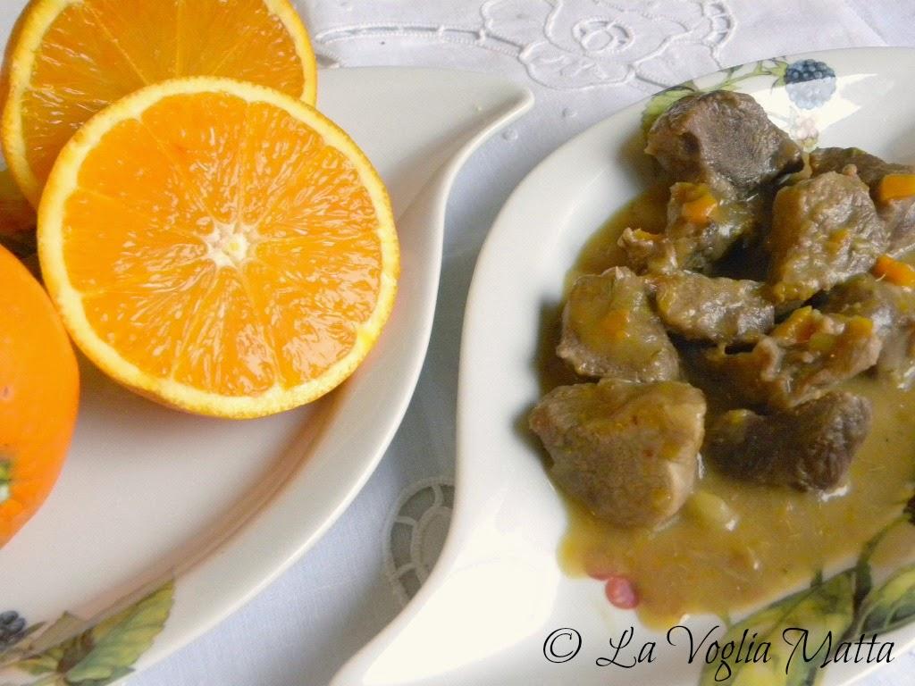 spezzatino di maiale all'arancia