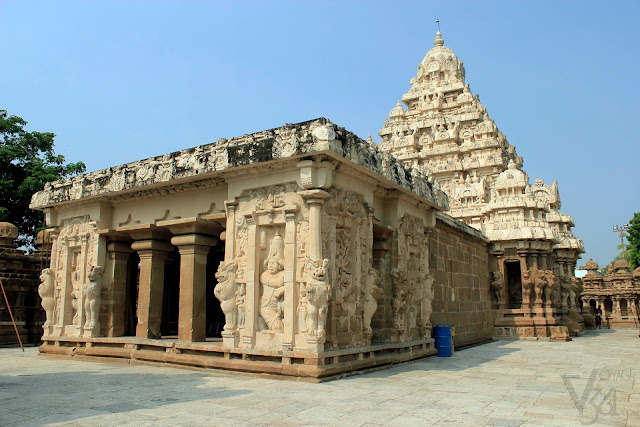 Garbhagriha Mantapa and Vimana of Kailasanathar temple