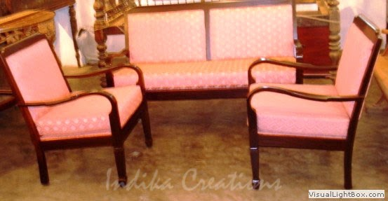 Indika Antique Rose Wood Sofa Sets Furniture