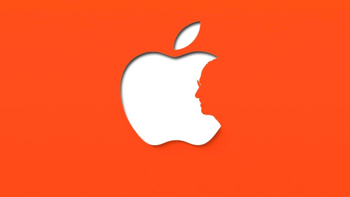 Wallpaper: Stylish minimal design inspired by Apple (Orange Ver.)