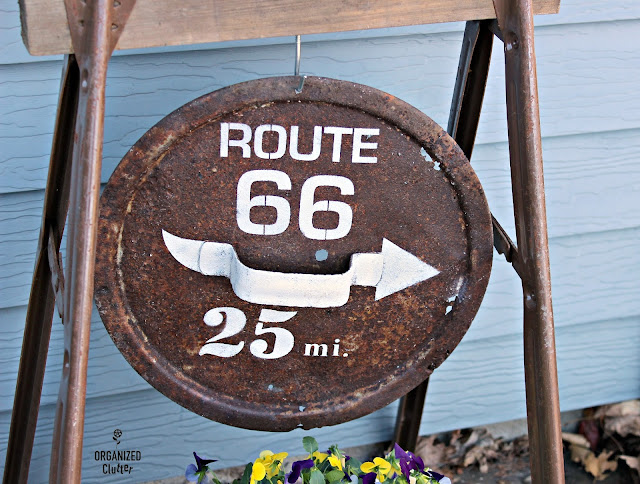 Rusty Cover Route 66 Sign