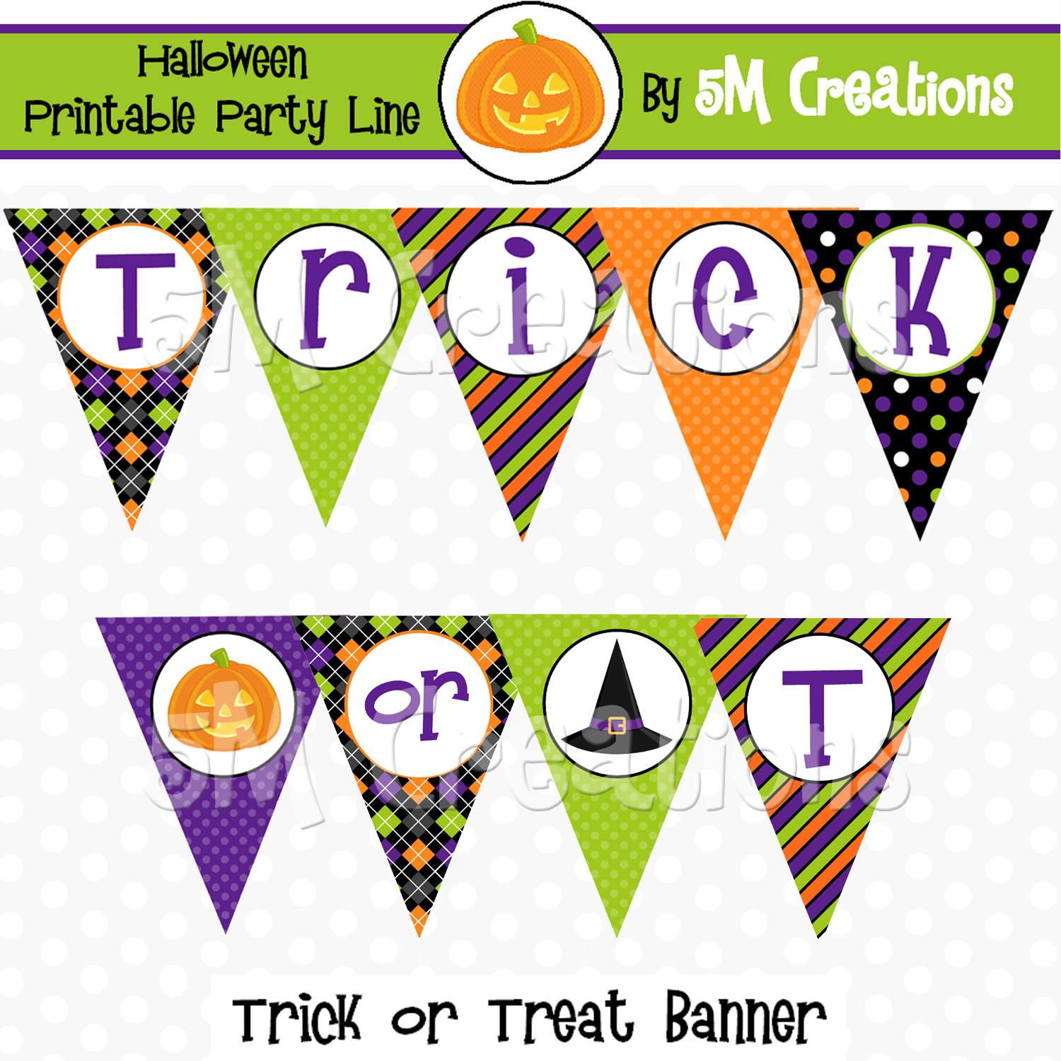5m Creations Trick Or Treat Halloween Party Printable Package