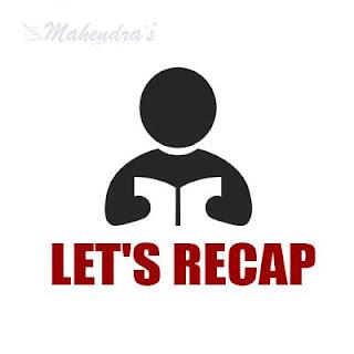 Let's Recap : 29.07.2017