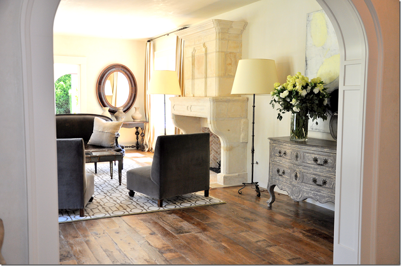 Beautiful French country interior design by Pamela Pierce Designs.