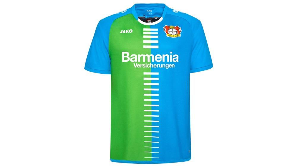 4e7cce719bb9c Bayer Leverkusen lança nova camisa em homenagem à própria Bayer ...