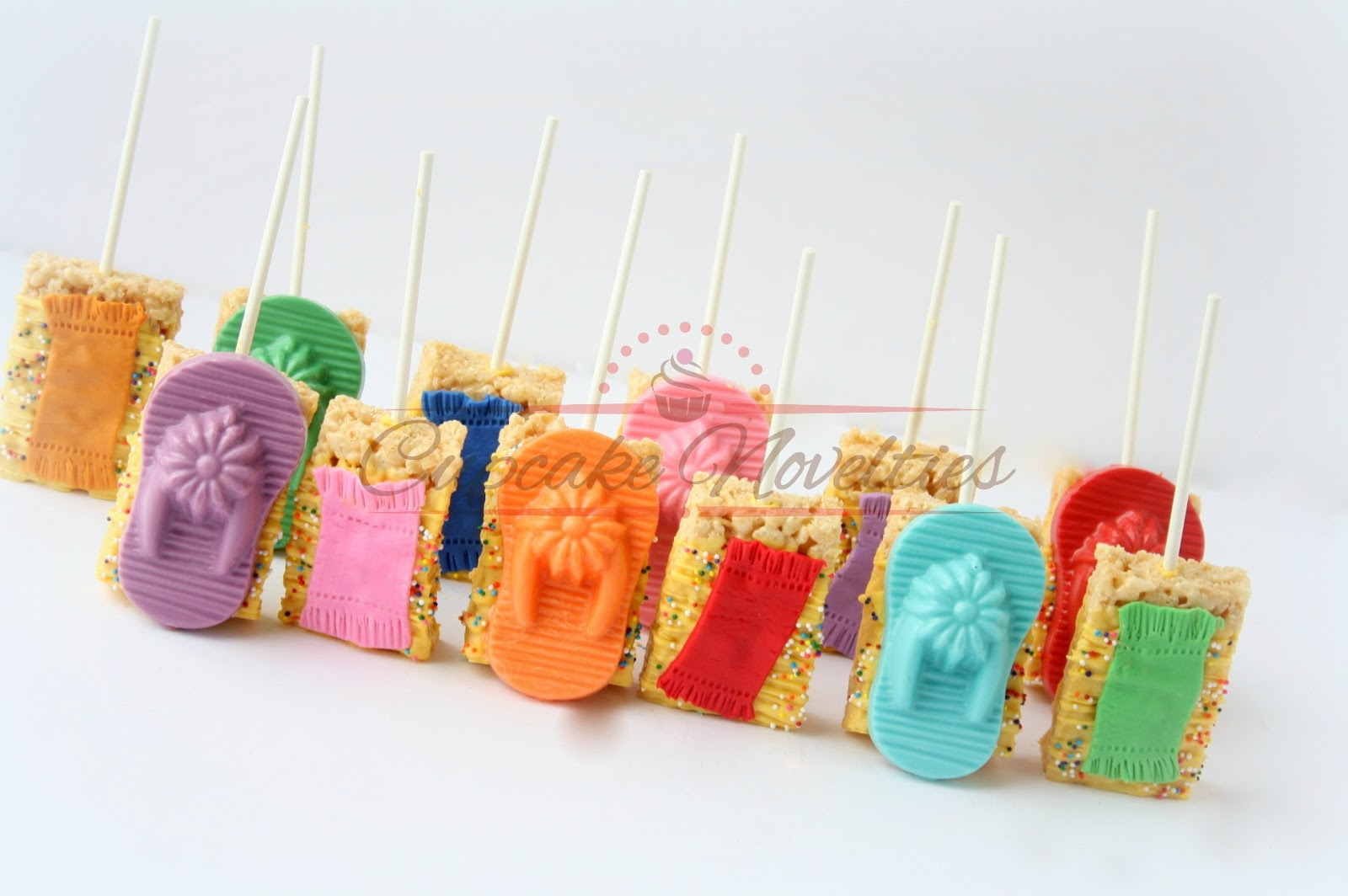 421cacf64e8f These delicious Rice Krispie treats are perfect for Pool Party favors