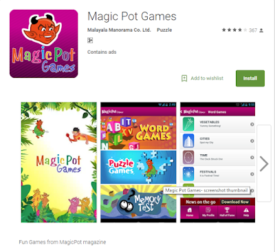 Magic Pot Games for Kids from Google Play Store