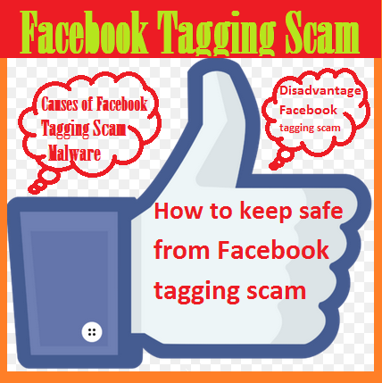 Facebook tagging scam