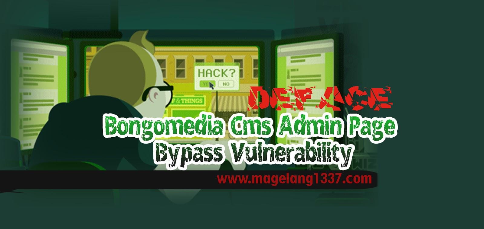 Bongomedia Cms Admin Page Bypass Vulnerability - MNH-BLOG