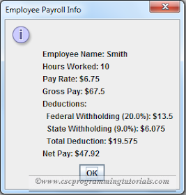 Java GUI Payroll Program | Computer Science Programming