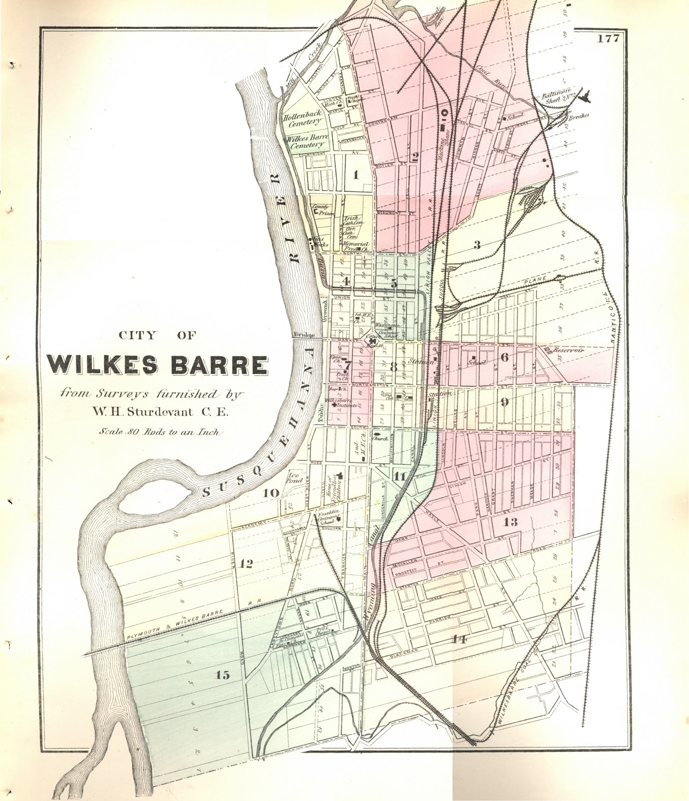 Connexion to History: 1873 Map of Wilkes Barre, PA on map of ms, map of ohio, map usa, map of ia, map of pennsylvania with cities, map of tn, map of harrisburg pennsylvania, google maps pa, map of colonial pennsylvania, map of new york, map of wi, map of panama, county map pa, map of il, map of az, map of oh, map of wv, map of western pennsylvania, map of mn, map of philadelphia,