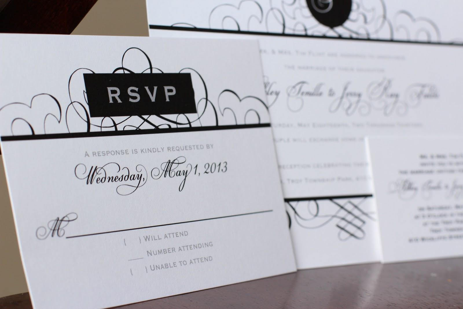 Simple Wedding Invitations Pinterest: {ek}designs: Troy, IL Simple Elegant Black And White