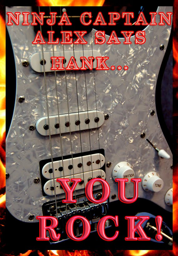 Hank's You Rock Award