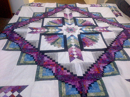 Shimmer Braid Quilt quilted by RN-Quilter, The Free Tutorial by Deana of Dreamworthy Quilts