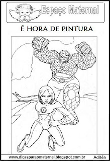 Desenho dos super heróis para colorir