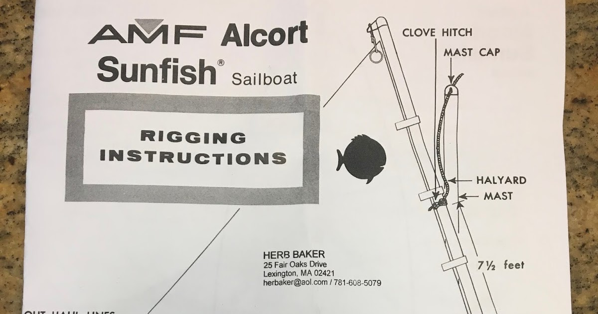 Small Boat Restoration Amf Alcort Sunfish Rigging Instructions And