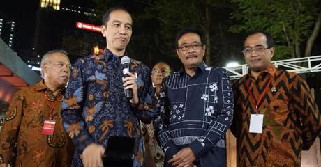 Resmikan Simpang Susun Semanggi, Jokowi: Saya Sangat Hargai Kerja Djarot dan Ahok