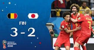 مواجهة بلجيكا ضد اليابان تنهي بفوز بلجيكا 3 - 2