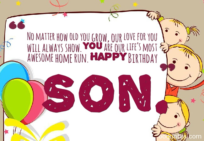 Cute Happy Birthday Wishes for Son from Father and Mother – Happy Birthday Greetings for Son