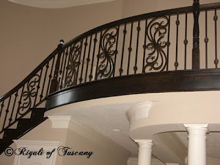 Don Rigali designer wrought iron - stair railing