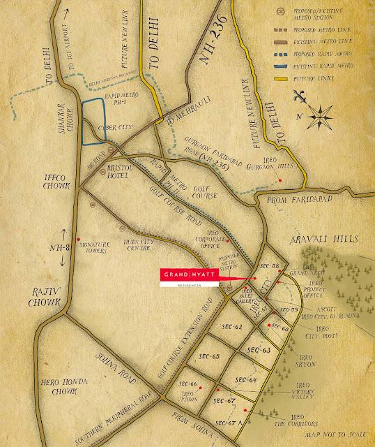 Location map - Ireo Grand Hyatt Residences
