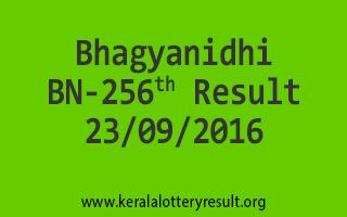 Bhagyanidhi BN 256 Lottery Result 23-9-2016