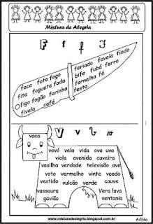Treino ortográfico F e V