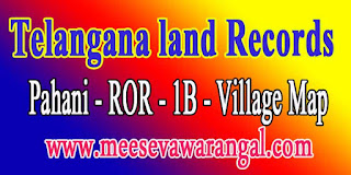 Telangana Ma Bhoomi Land Records Pahani ROR Online Search