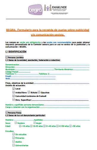 formulario denuncia