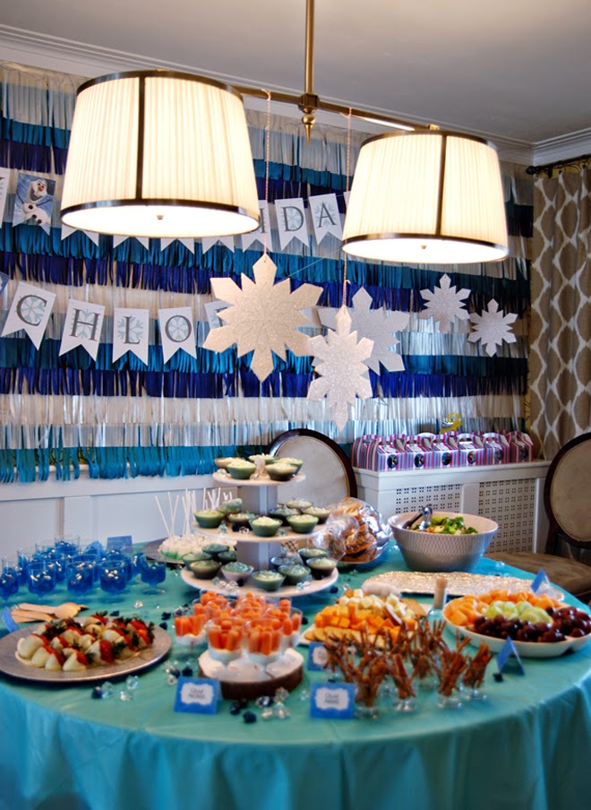 disney frozen birthday party table ideas