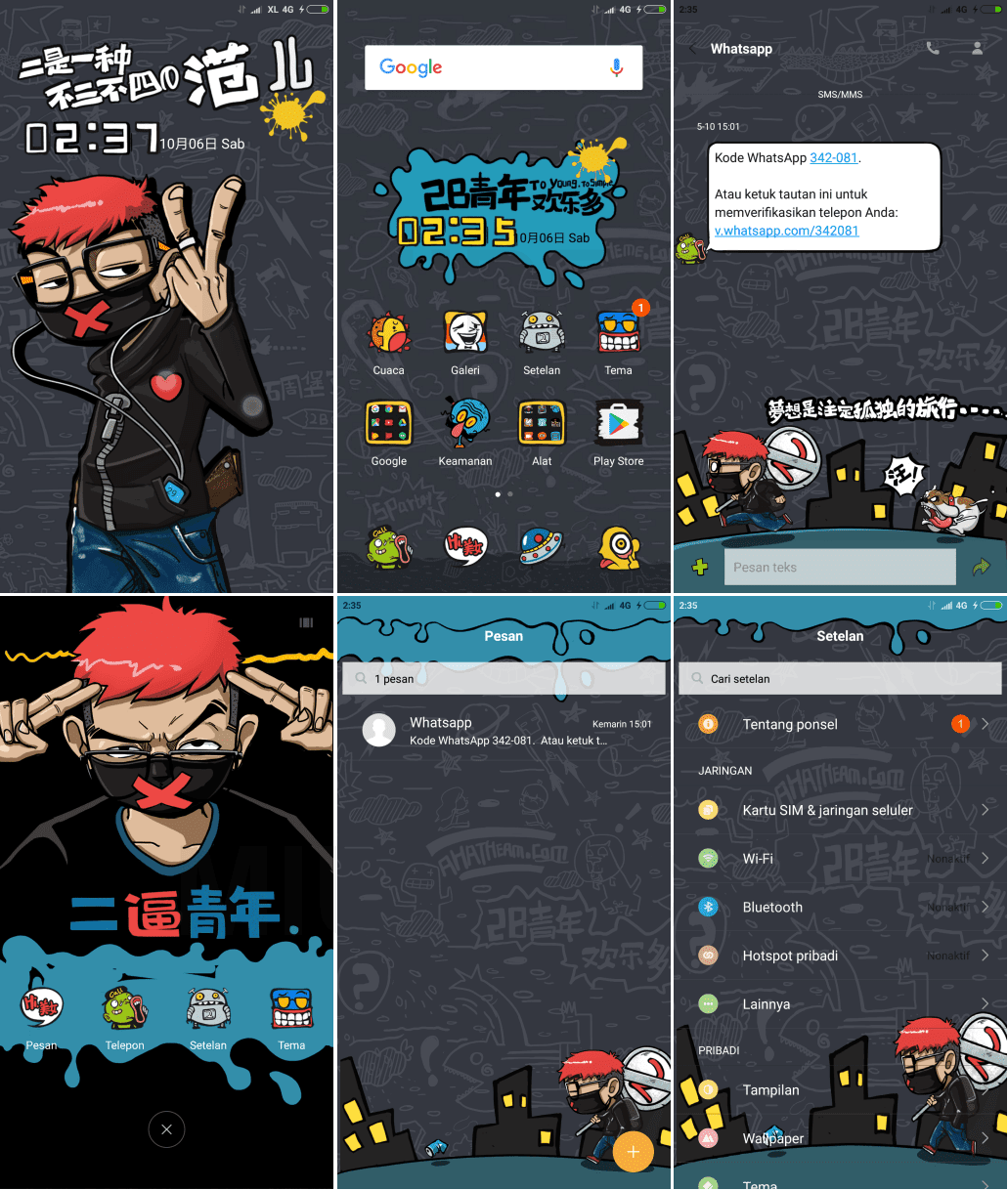 Download Tema MIUI Fan Two Youth + Cara pasang beserta mod Theme Manager