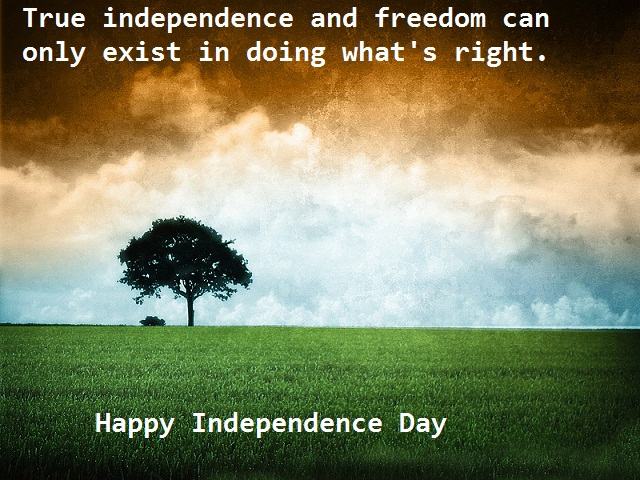 Happy Independence Day Message in Image