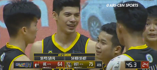 UST super rookie CJ Cansino Drops Historic Triple-Double Against UE (VIDEO)