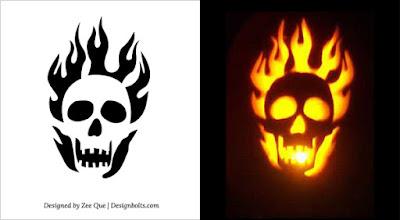 Scary Halloween Pumpkin Designs Patterns