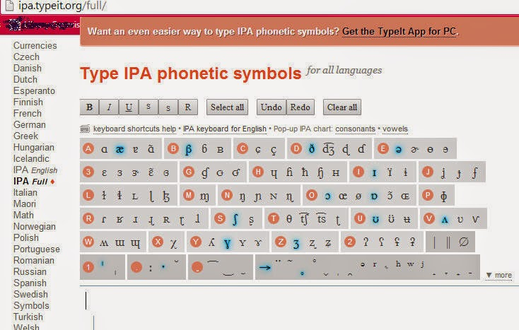 If you need to go for narrow transcription with different diacritics and symbols other languages than english may try typeit also pronunciation bites tools  apps typing ipa rh pronunciationbitesspot